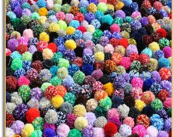 Pom Poms, Mixed Pompoms, Ready to Ship, Pom Pom Accessary, Loose Pom Poms, Accessary for Bags, Craft Pompoms, Pom Poms for Hats, Pom Poms