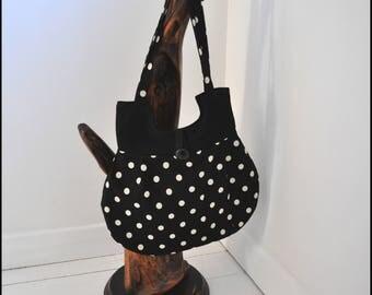Spotted Bag, Fabric bag, Hand bag, Bag, Handmade bag, Stylish handbag, Shoulder bag, Gift for Her, Mothers Day Gift, Tote bag, Ladies bag,