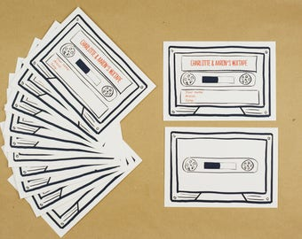 Personalised Song Request Cassette Card