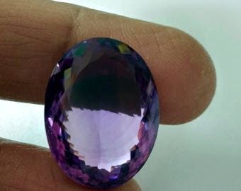 Top Quality of Brazilian Natural Amethyst Oval Shape 26 Carat