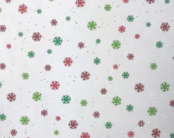 "Just Snowflakes Christmas Tissue Paper Gift Wrapping Flower Making 20""x30"""