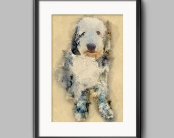 Custom pet portraits, pet painting, pet drawing, pet custom drawing, photoshop art, digital,pet watercolor, custom pet drawing, pet wall art