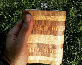 Wood covered canteen