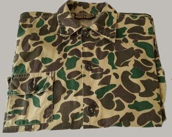 Vintage Weatherite Sportswear Camouflage Button-Up Jacket