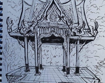Thai Pavilion drawing