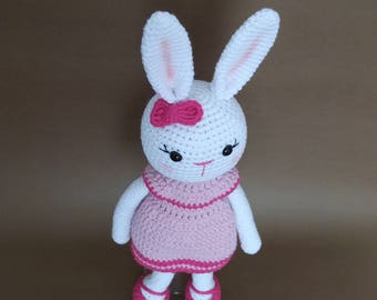 Amigurumi crochet bunny - handmade rabbit