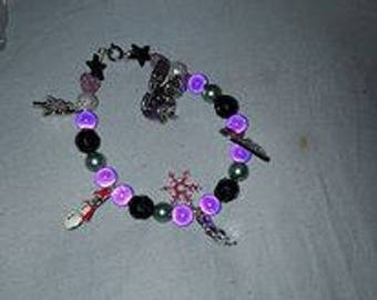 Handcrafted beaded bracelets with charms