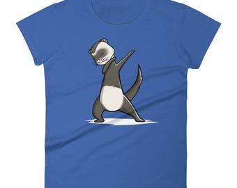Funny Dabbing Ferret Shirt, Cute Dab Dance Pet Gift, Ferret Women's T-Shirt
