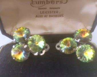 Gorgeous Rivoli Glass Earrings
