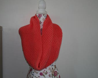 Snood hand knitted twice
