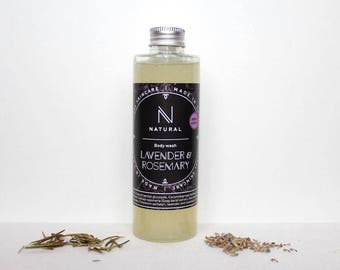 N A T U R A L | body wash with lavender and rosemary flavor | handmade | Christmas gift | gift for mom