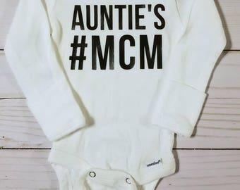 Auntie Man Crush Monday Onesie #mcm