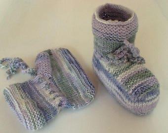 Merino socks wool baby shoes with silk