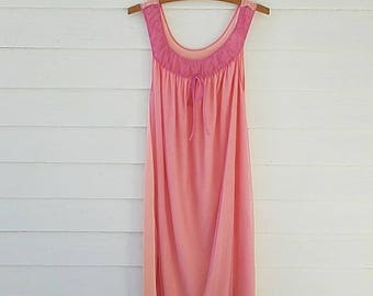 Vintage 1950s 1960s Babydoll Nightgown