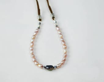 Exquisite Pearls with Leather 11:11 - Necklace, Bracelet, Belt or Anklet - 1111
