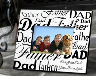 Personalized Dad-Father Frame - Father's Day Gifts - Dad Photo Frames - Father Picture Frames - Personalized Dad Frames - Father's Day Frame