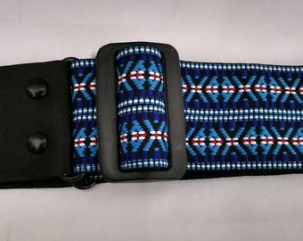 A Beautiful Handmade Woven Guitar Strap made in Mexico