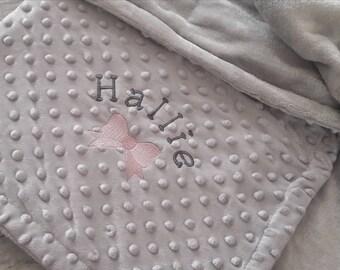 Personalised grey blanket