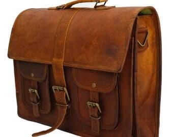 Briefcase | Messenger Bag | Laptop Bag | Notebook Bag | Shoulder Bag | Real Leather | Vintage-Ben HAYLEN ' Imworkaholic '