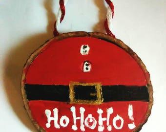 Santa wooden ornament