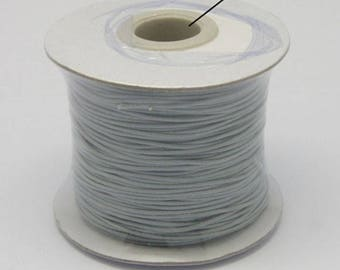 20 meter Polyester Wax Cord Gray,Korean Wax Cord,Korea Polyester Cord,1 mm Polyester Wax String K22