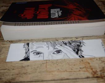 Bookmark Mads Mikkelsen simple / / Simple bookmark Mads Mikkelsen