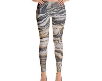 Marble Print Leggings Womens