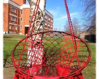 Swing wicker red-brown