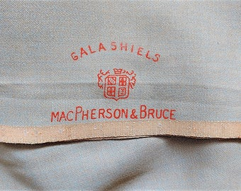 Wool Gabardine MacPherson and Bruce  Very Rare Vintage Collection First Quality from Galashiels Scotland