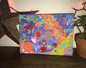 Psychedelic Mess Canvas Painting