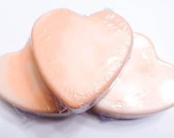 Peaches and Cream Heart Bar Soap