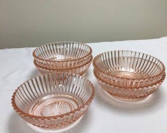 Anchor Hocking Pink Bowls