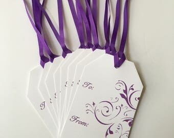 Gift Tag 10-Pack Purple