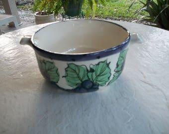 Vicki Carroll 1990's pottery casserole pot