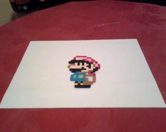 Super Mario World Perler Beads - Small Mario