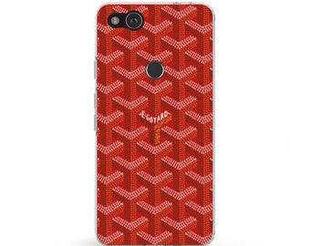 Red goyard case Pixel 2 phone case goyard Samsung case Galaxy note 8 case LG G6 case cover goyard custom Silicone phone case goyard case s8