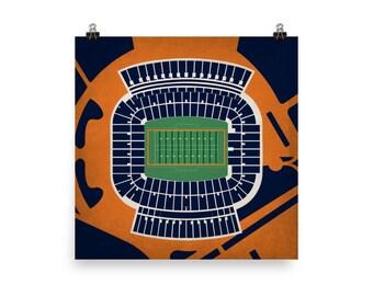Jordan-Hare Stadium Wall Art - Auburn University Tigers Football
