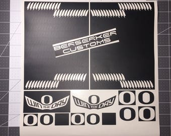 Oregon ducks wing and O stencil for customizing shoes