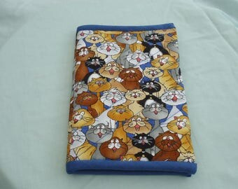Kindle Cover - standard size, quilted, Cat's Choir Design Fabric