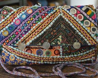 Stylish Gypsy Clutch Bag Indian Vintage Banjara Patchwork Tribal Bohemian Purse