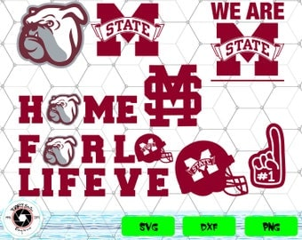Mississippi State Bulldogs svg,png,dxf/Mississippi State Bulldogs clipart for Print/Design/Cricut/Silhouette...etc