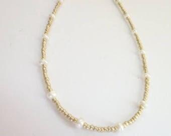 Pearl Choker, Seed Bead Choker Necklace, Beaded Choker,  Dainty  Choker, Dainty Necklace, Pearl Necklace