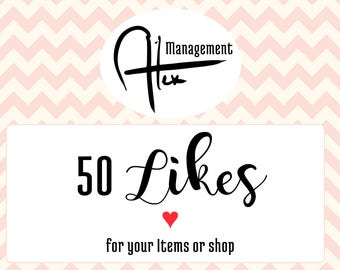 Increase likes on your business, 50 like Promoted listing with like number increase on items or shop, like help for your business visibility