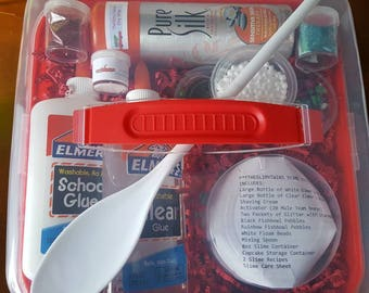 IT'S BACK! Slime Kit by THESLIMYTWINS, Original Large Glue Slime Kit Elmer's Glue Slime Kit, Cheap Name Brand Slime Kit fast shipping elmers
