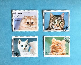 Postage Stamp - Cats A