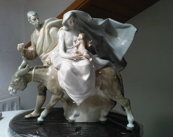 "Lladró sculpture-""flight to Egypt""-Ref. 01001610"