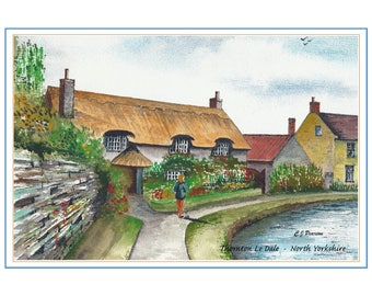 Thornton Le Dale Cottage Watercolour