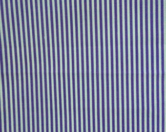 Mauve and white stripe printed cotton