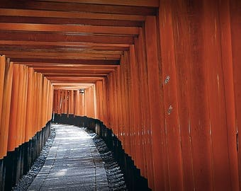"Photographic Fine Art Print, ""Fushimi Inari"", Fushimi Inari Shrine in Kyoto, Japan, Wall Art"