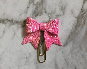 Think Pink Beauty Bow Clip/ Charm- Planner bow